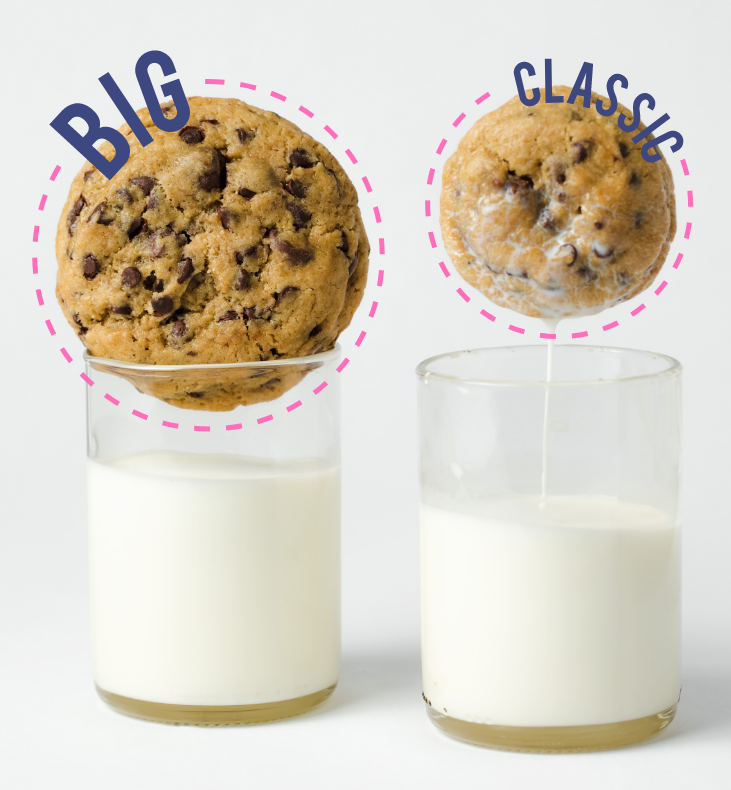 Classic vs Big Cookie